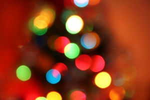 Anyone else like to blur their eyes when looking at the Christmas tree?