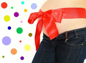 No, this is not my belly. I don't do pregnancy belly photos. :)