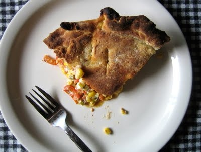 tomato corn biscuit pie