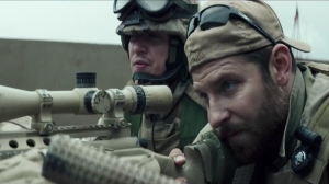 Bradley Cooper as Navy SEAL sniper Chris Kyle.