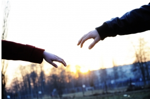 hands reaching